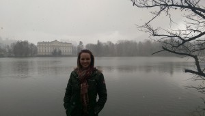 Schloss Leopoldskron, where Maria and the children take a dip in the lake.